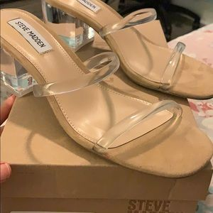 Steve Madden clear Issy thick heel